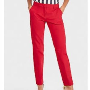 Skinny red pants